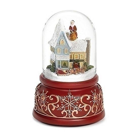 Roman Santa On Rooftop Dome SnowGlobes