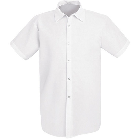 Chef Designs® 5050 Short Sleeve Long Cook Snap Front Shirt - Big