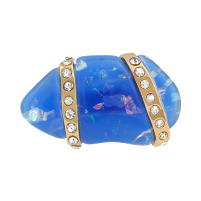 10021 | Kara Ross Crystal and Blue Resin Ring