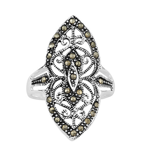 Sparkle Allure Gray Stackable Ring