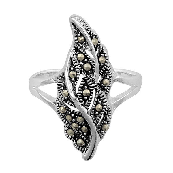 Sparkle Allure Womens Gray Stackable Ring