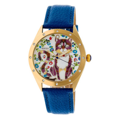 Bertha Womens Blue Strap Watch-Bthbr6105