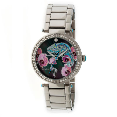 Bertha Womens Silver Tone Strap Watch-Bthbr6201