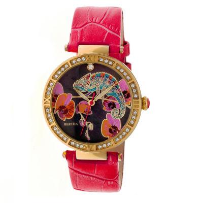 Bertha Womens Red Strap Watch-Bthbr6205