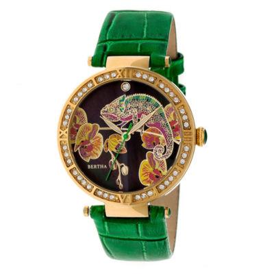 Bertha Womens Green Strap Watch-Bthbr6206
