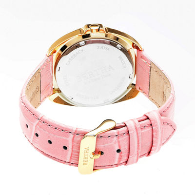 Bertha Womens Pink Strap Watch-Bthbr6305