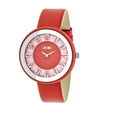 Crayo Unisex Red Strap Watch-Cracr3408