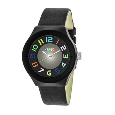 Crayo Unisex Black Strap Watch-Cracr3502