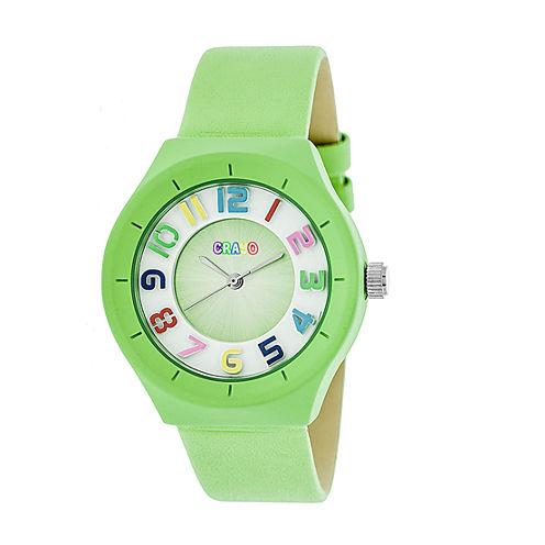 Crayo Unisex Green Strap Watch-Cracr3504
