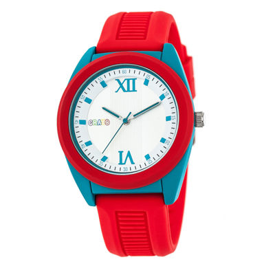 Crayo Unisex Red Strap Watch-Cracr3603