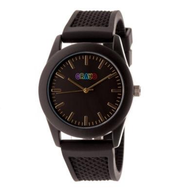 Crayo Unisex Black Strap Watch-Cracr3701