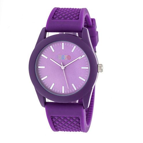 Crayo Unisex Purple Strap Watch-Cracr3705