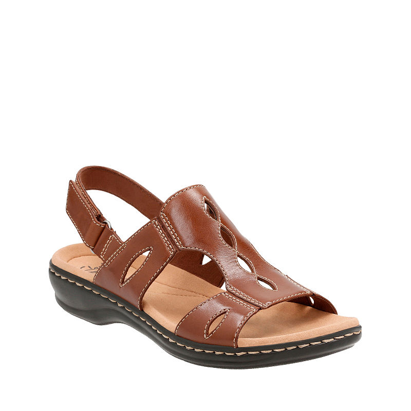 c8fcd6c0640 Clarks Leisa Lakelyn Womens Sandals - Brown - Size 5 1/2 Medium - Female -  Adult - Brown