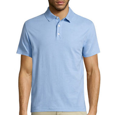 Claiborne short sleeve knit polo shirt jcpenney for Jcpenney ladies polo shirts