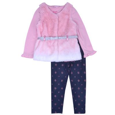 Nanette Baby 3-pc. Legging Set-Preschool Girls