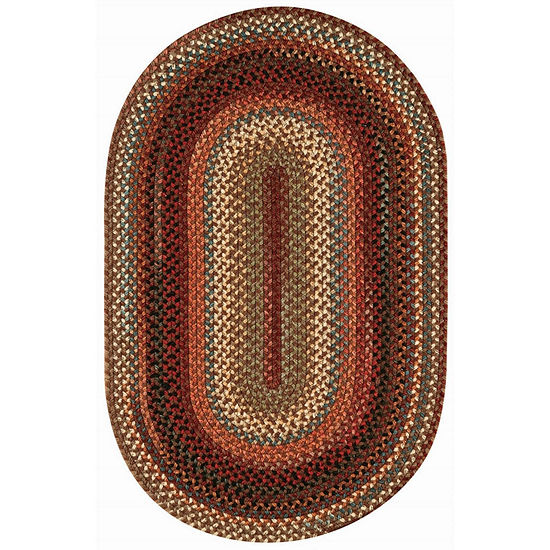 Capel Inc. Portland Concentric Braided Oval Rugs