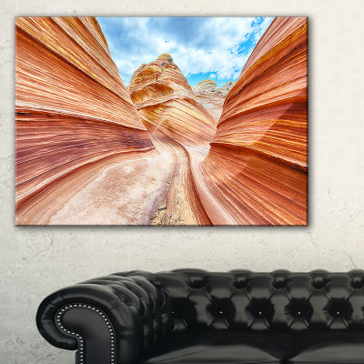 Designart Swirling Dune Sandstones Landscape PhotoCanvas Art Print
