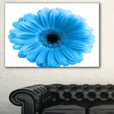 Designart Isolated Blue Flower Floral Art CanvasPrint - 3 Panels
