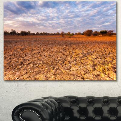 Designart Amazing View Of African Landscape Landscape Canvas Art Print  3 Panels