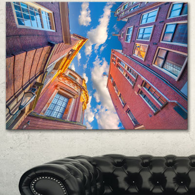 Designart Authentic Dutch Architecture Extra LargeCanvas Art Print 3 Panels