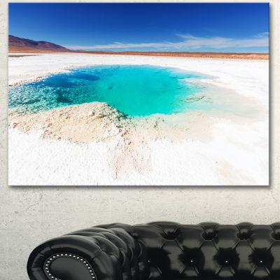 Designart Beautiful Salinas Lake In Argentina Large Landscape Canvas Art 3 Panels