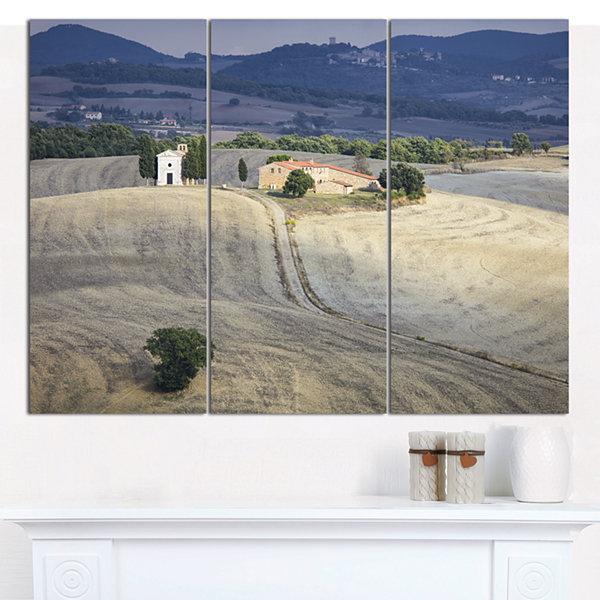 Designart Beautiful Sandy Landscape Landscape Canvas Art Print 3 Panels