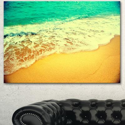 Designart Beautiful Sea Summer Background Large Seashore Canvas Wall Art 3 Panels