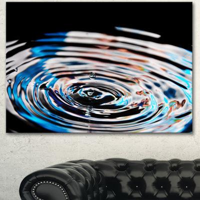 Designart Beautiful Splash Of Purple Water LargeAbstract Canvas Wall Art 3 Panels