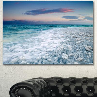 Designart Beautiful Sunrise At Dead Sea Seashore Canvas Art Print  3 Panels