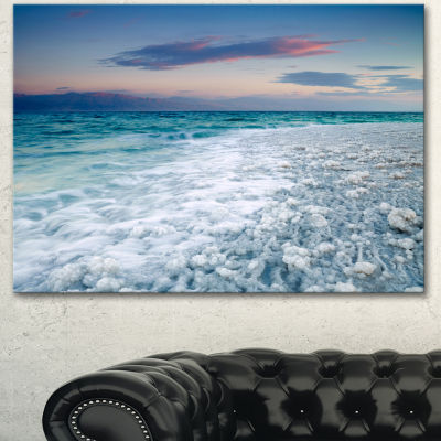 Designart Beautiful Sunrise At Dead Sea SeashoreCanvas Art Print 3 Panels
