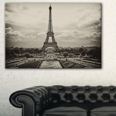 Designart Vintage View Of Paris France Cityscape Photo Canvas Print