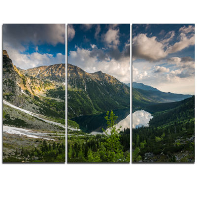 Designart Summer At Polish Tatra Mountains Landscape Canvas Art Print - 3 Panels