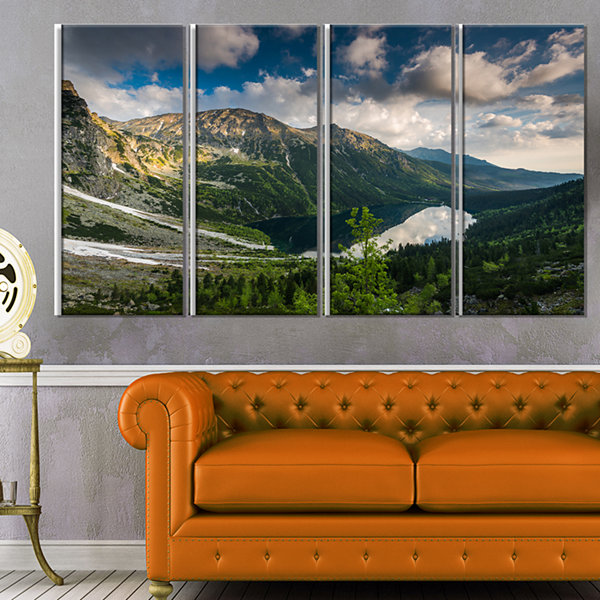 Designart Summer At Polish Tatra Mountains Landscape Canvas Art Print - 4 Panels