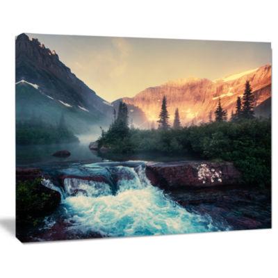 Designart Glacier National Park Montana Landscape Canvas Art Print
