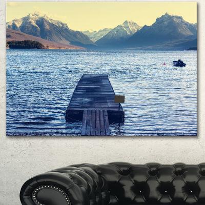Designart Lake In Glacier National Park Seashore Canvas Print