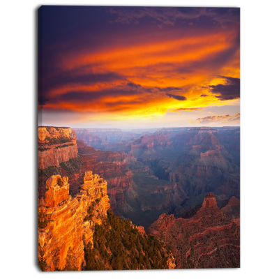 Design art Colorful Grand Canyon At Sunset Landscape Canvas Art
