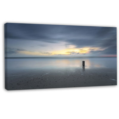 Designart Stormy And Dark Sea Sunset Canvas Art Print