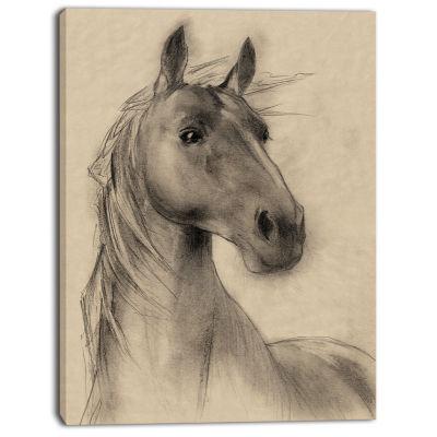 Design Art Horse Head Illustration Animal Canvas Art Print