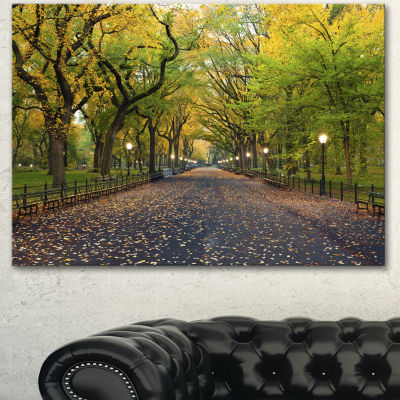 Design Art The Mall Area In Central Park Landscape Canvas Art