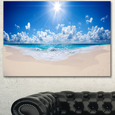 Designart Beautiful Tropical Beach Panorama ModernSeashore Canvas Art