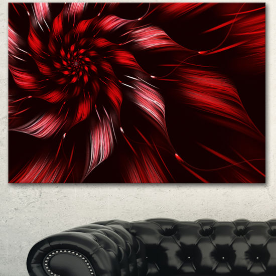 Designart Multicolor Symmetrical Fractal Flower Canvas Art Print