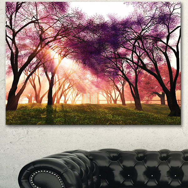 Designart Cherry Blossoms Japan Garden LandscapeCanvas Art Print