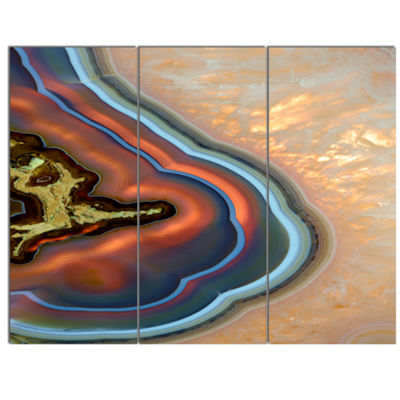 Designart Abstract Mineral Texture Canvas Art Print - 3 Panels