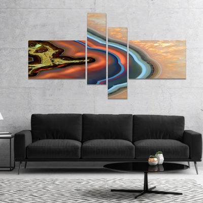 Designart Abstract Mineral Texture Canvas Art Print - 4 Panels