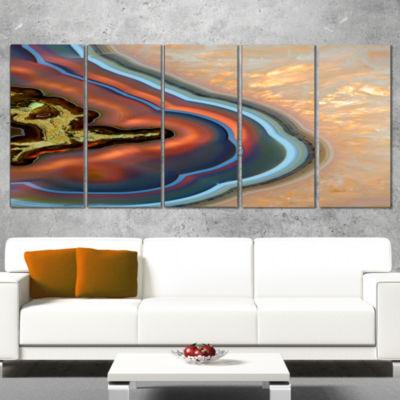 Designart Abstract Mineral Texture Canvas Art Print - 5 Panels