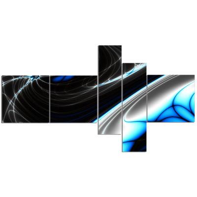 Designart Fractal Art work For Creative Design Abstract Canvas Wall Art Print - 5 Panels