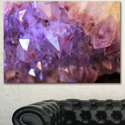 Design art Purple White Natural Amethyst Geode Abstract Canvas Artwork