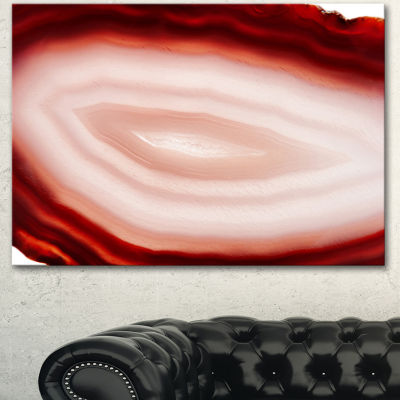 Designart Agate With Chalcedony Geological CrystalAbstract Canvas Artwork