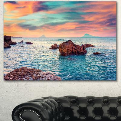 Designart Sunrise On The Mediterranean Sea CanvasArt Print