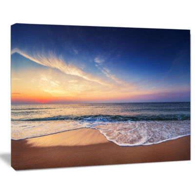 Designart Beautiful Blue Cloudscape Over Sea Canvas Art Print